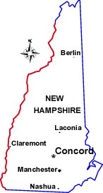 Map of New Hampshire - click here for directions